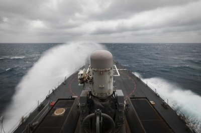 U.S. warships travel Taiwan Strait; China warns against show of force