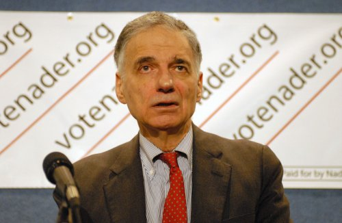 Ralph Nader backs Hillary for V.P.