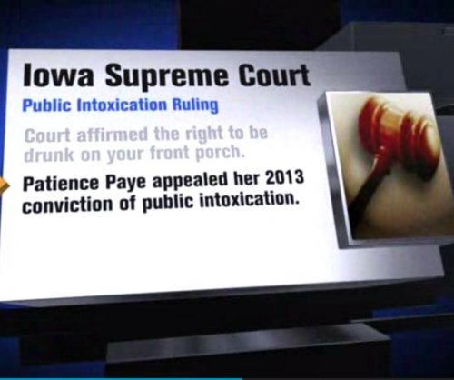 Iowa Supreme Court: It's OK to be drunk on your front porch