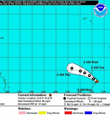 National Weather Service: Fred strengthens into hurricane