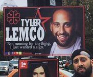 Montreal man's political posters: 'I just wanted a sign'