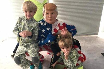 Donald Trump Jr. dresses as Donald Trump for Halloween