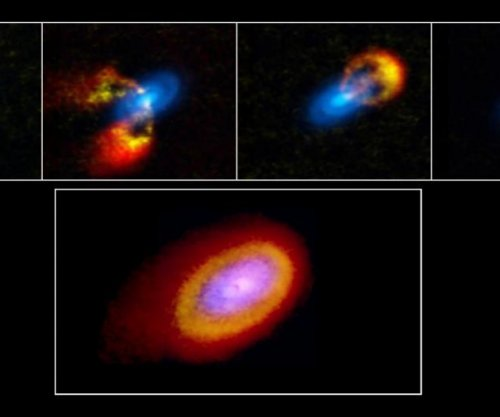 Young star system reveals gravitational instabilities of planet formation process