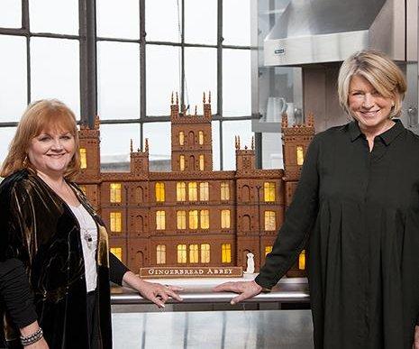 Martha Stewart designs a gingerbread Downton Abbey