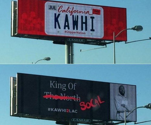 Two Kawhi Leonard billboards appear in Los Angeles