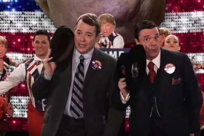 'The Producers' stars mock Donald Trump on 'Jimmy Kimmel Live'