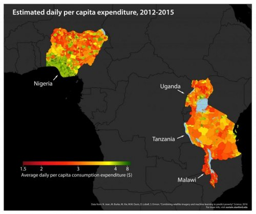 Researchers use satellite data and machine learning to build poverty map