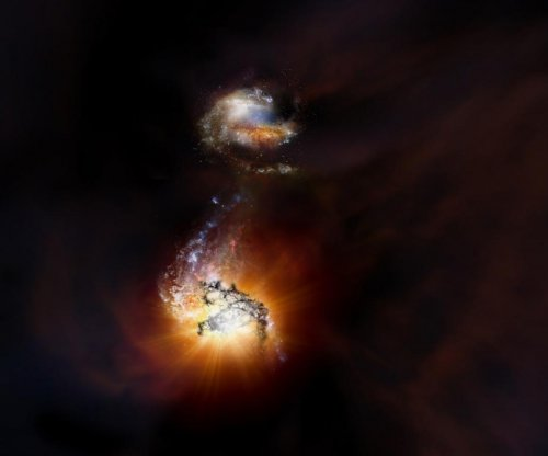 ALMA details merger of two massive, super bright galaxies