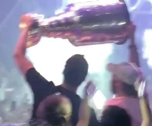 Washington Capitals celebrate Stanley Cup on Las Vegas Strip