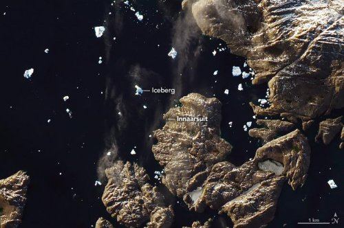 NASA satellite spies massive iceberg parked near small Greenland village