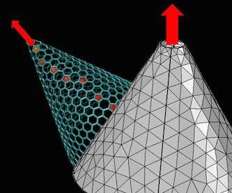 Scientists flex graphene to get a stronger current