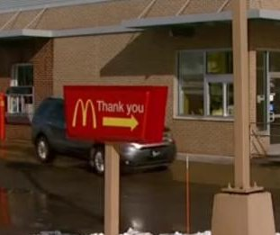 McDonald's customer pays at drive-through with cash, heroin