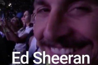 Los Angeles Galaxy's Zlatan 'God' Ibrahimovic meets Ed Sheeran