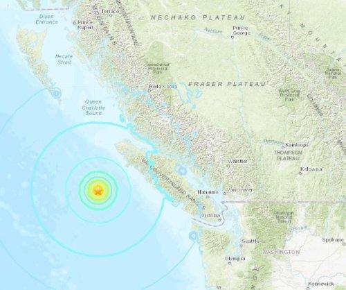 3 large earthquakes strike off Pacific coast of British Columbia