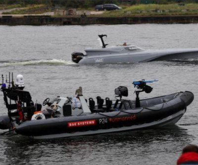 Britain demonstrates its new autonomous naval surface vessel
