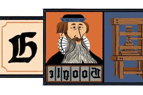 Google honors printing press innovator Johannes Gutenberg with Doodle