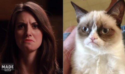 [VIDEO] Alison Brie imitates internet memes