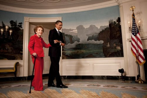 Nancy Reagan still recovering from fall
