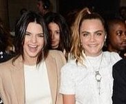 Kendall Jenner, Cara Delevingne take in London Fashion Week