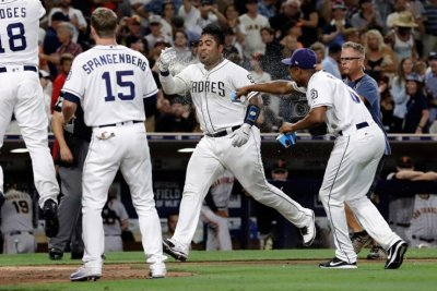 San Diego Padres' Hector Sanchez punishes San Francisco Giants again