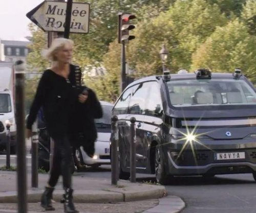 French company Navya unveils driverless taxi in Paris
