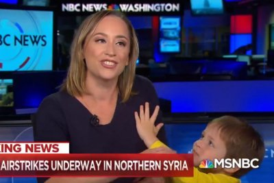 MSNBC segment interrupted by correspondent's young son