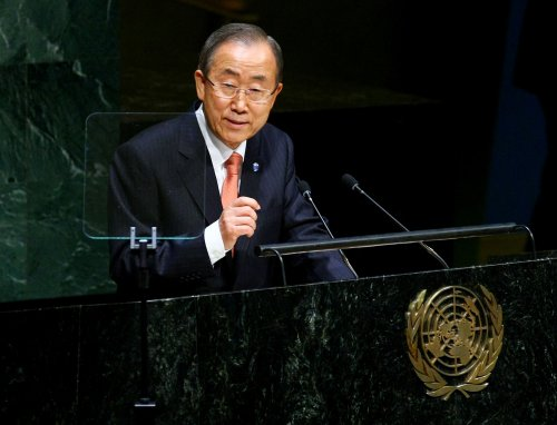 U.N.'s Ban Ki-moon calls for peaceful resolution to Hong Kong protests