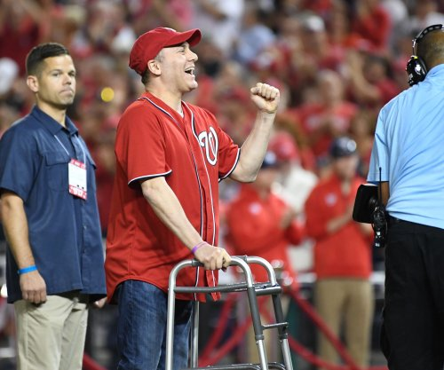 Rep. Steve Scalise throws first pitch at Nats-Cubs playoff game