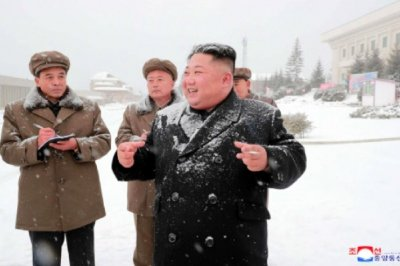 Kim Jong Un provides field guidance in snow-covered Samjiyon County
