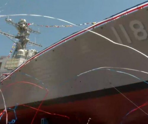 Guided-missile destroyer USS Daniel Inouye christened in Maine