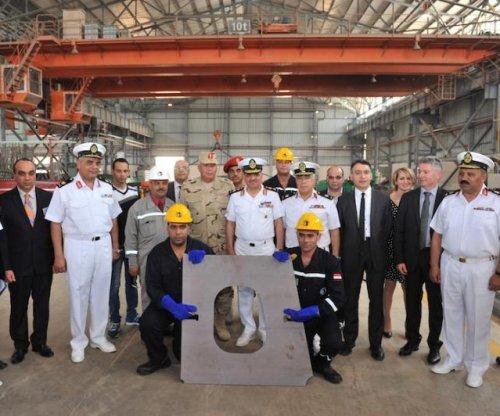 Egyptian shipyard cuts steel for navy corvette