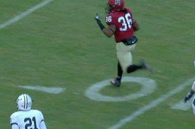 Harvard's Devin Darrington gets TD reversed after finger wag