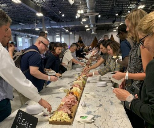 World's longest charcuterie board set up at Chicago conference