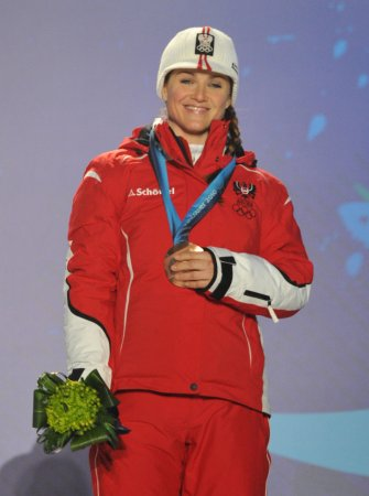 Austrian Goergl wins Worlds super G
