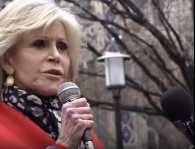 Actress Jane Fonda among activists at 'Shut Down D.C.' climate rally