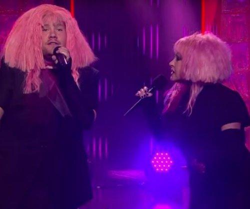 James Corden, Cyndi Lauper perform 'Girls Just Want Equal Funds' duet