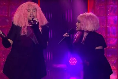James Corden, Cyndi Lauper perform 'Girls Just Want Equal Funds' duet