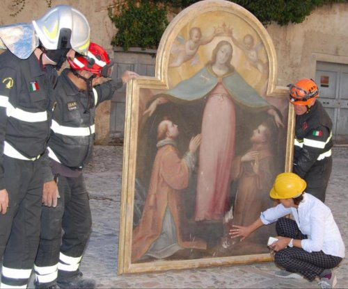 Historic painting looted from church in Italy destroyed by earthquake