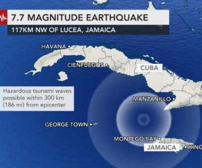 Tsunami possible after major earthquake near Jamaica, Cuba