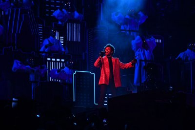 The Weeknd dazzles with blinding light at Super Bowl halftime show