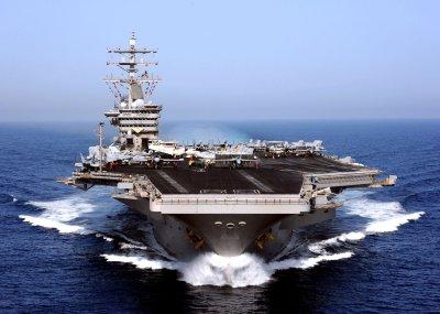 Iranian plane buzzes U.S. naval carrier