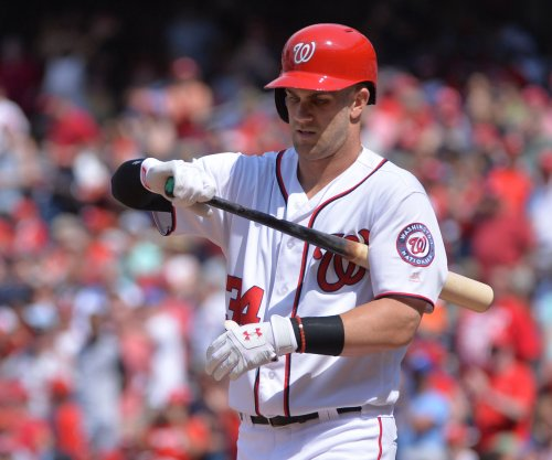 Washington Nationals star RF Bryce Harper sidelined again