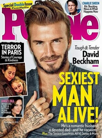 David Beckham named People's 'Sexiest Man Alive' for 2015