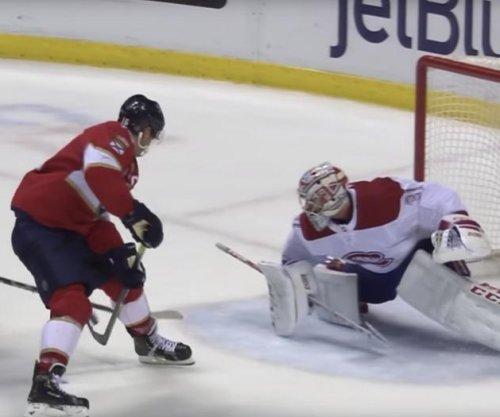 Panthers' Aleksander Barkov nets incredible between-the-legs goal