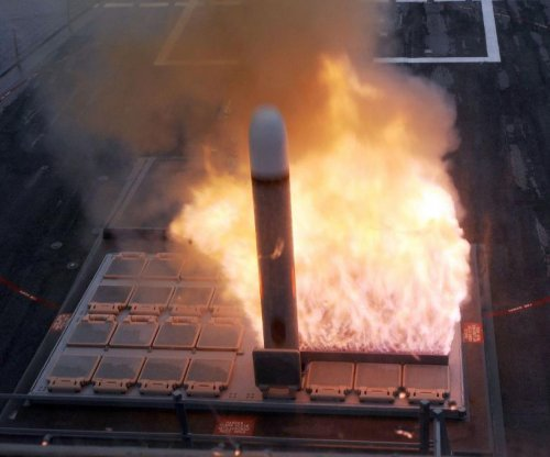 Ribbon-cutting for upgraded missile launcher assembly line