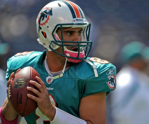 QB Matt Moore takes charge from start in Miami Dolphins' huddle