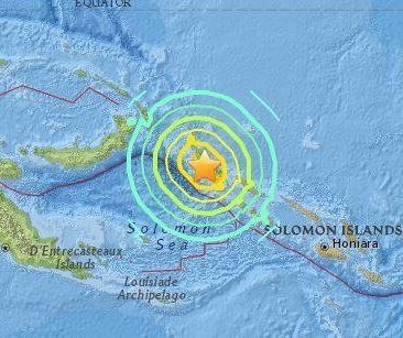7.9 earthquake strikes near Papua New Guinea, Solomon Islands