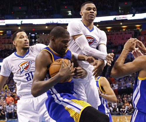 Kevin Durant leads Golden State Warriors to win in return to Oklahoma City