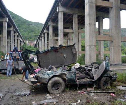 Vital bridge in Venezuela could collapse as cars keep falling off, politician warns
