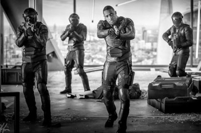 Dwayne Johnson posts first photo of Idris Elba in 'Hobbs and Shaw'